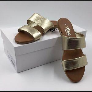 Rebels Deana Gold Slip On Sandals